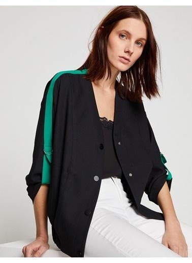 Koton Biye Detaylı Ceket Siyah